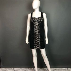 Bebe lace center body con dress